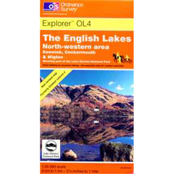 Ordnance Survey The English Lakes NW Area