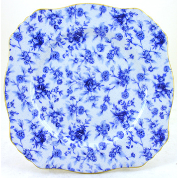 Blue Cottage Plate