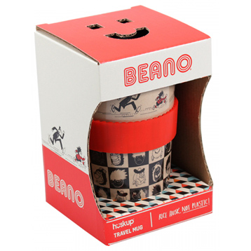 Beano Pattern Huskup Travel Mug