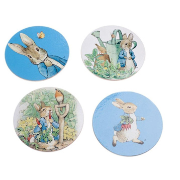Peter Rabbit 4 Piece Coaster Set