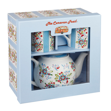 Caravan Trail Floral Tea For Two Gift Box