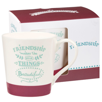 Chasing Rainbows Chestnut Mug Friendship 300ml in Gift Box