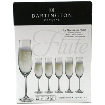 Champagne Flutes Set of Six Glasses
