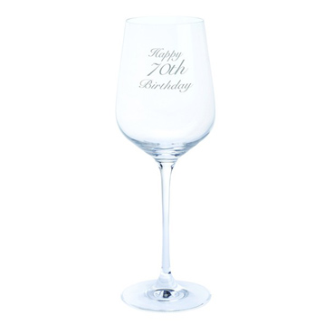 Just For You 'Happy 70th Birthday' Wine Glass