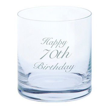 Just For You 'Happy 70th Birthday' Tumbler Glass