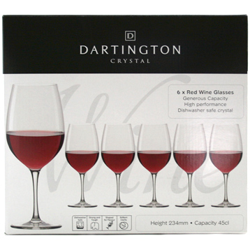 Red Wine Set of Six Glasses