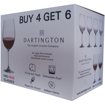 Large Red Wine Glasses - Pack of 6