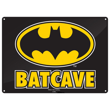 Batman Batcave Small Tin Sign