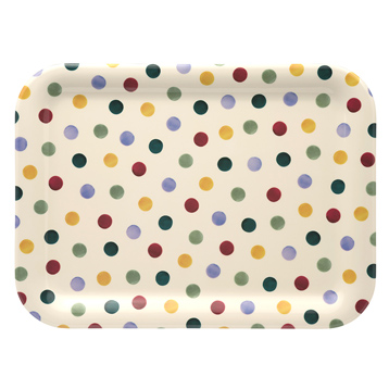 Polka Dot Medium Melamine Tray