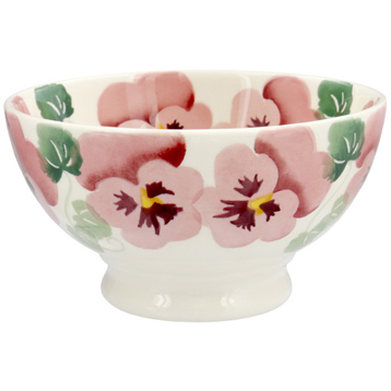 Pink Pansy French Bowl