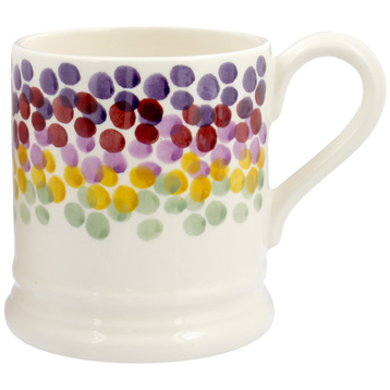 Rainbow Dots ½ Pint Mug