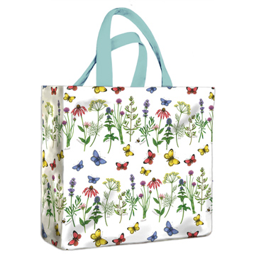 Herbs & Butterflies PVC Medium Gusset Bag