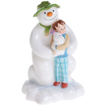 John Beswick The Snowman Kneeling with Billy & The Snowdog Figurine
