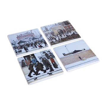Silhouette D'art Lowry Ceramic Coasters Pack of 4