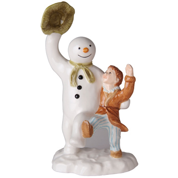 John Beswick The Snowman & James Dancing Earthenware Figurine
