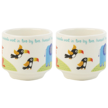 Noah's Ark Stacking Egg Cups Pack of Two