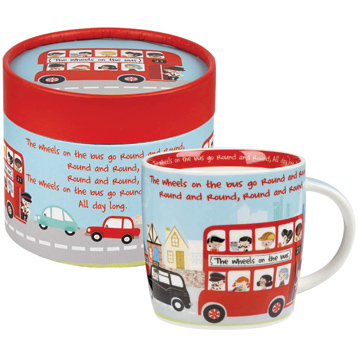 The Wheels On The Bus Fine China Spice Mug in Hatbox