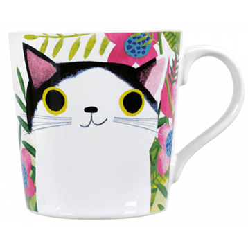 Planet Cat What Greater Love Mug