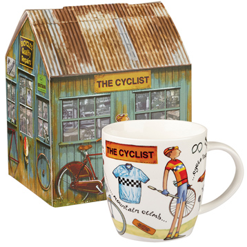 The Cyclist Squash Mug 400ml in Gift Box