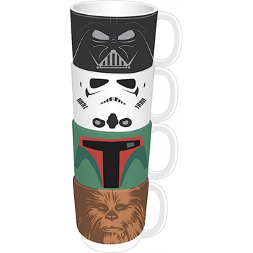 4 Character Stacking Mug Set
